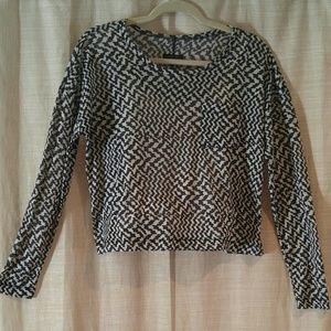 rag & bone Sheer Houndstooth Layer Shirt